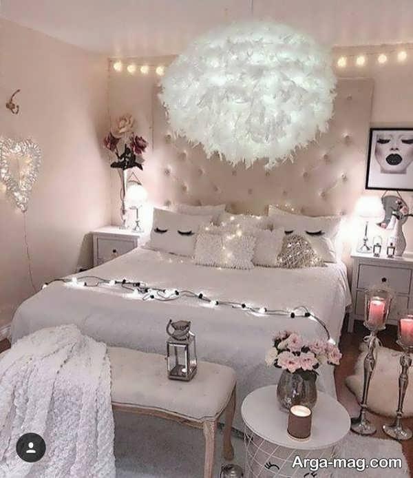 چیدمانی از اتاق خواب عروس