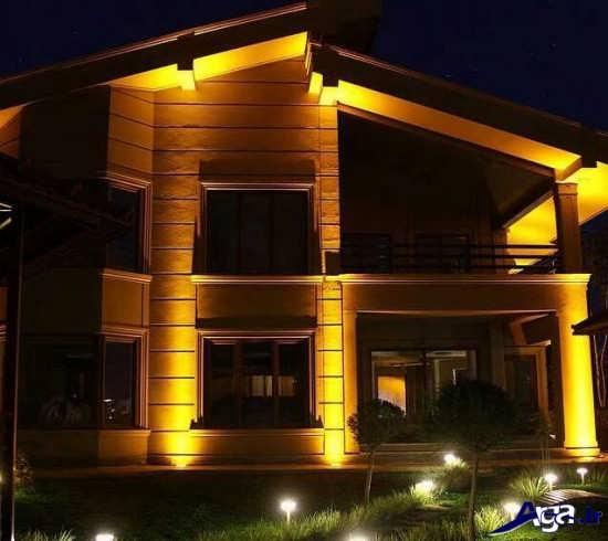 نورپردازی خارجی ساختمان ویلایی