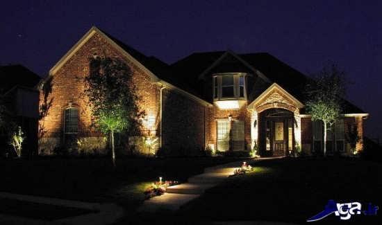 نورپردازی شیک نمای ساختمان