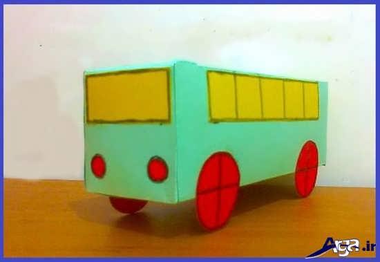 ساخت کاردستی اتوبوس با مقوا