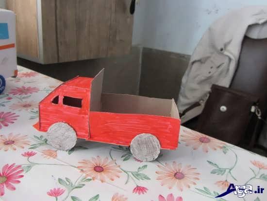 ساخت ماشین وانت با مقوا
