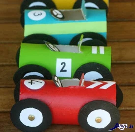 ساخت ماشین مقوایی برای کودکان