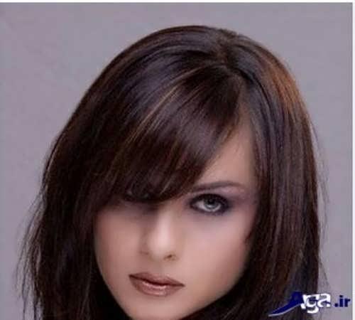 رنگ موی شکلاتی گرم با هایلایت کارملی سرد