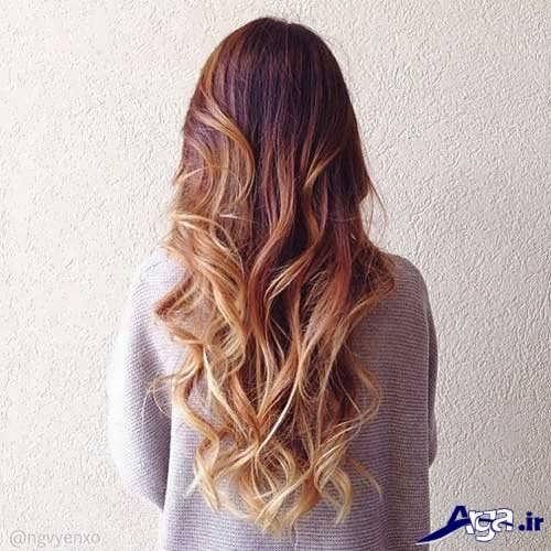 رنگ موی قهوه ای کاراملی براق