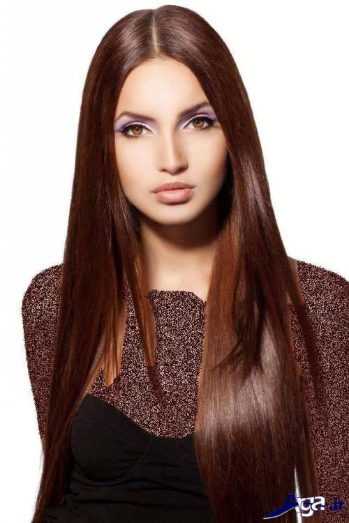 تصاویر انواع رنگ موی بلوطی و فرمول ترکیب آن