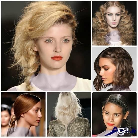 مدل آرایش موی باز جدید
