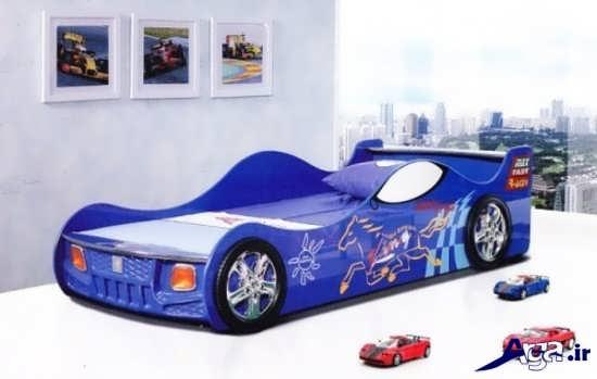 تختخواب باطرح ماشین برای کودک