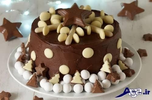 مدل زیبا کیک شکلاتی با طرح ستاره