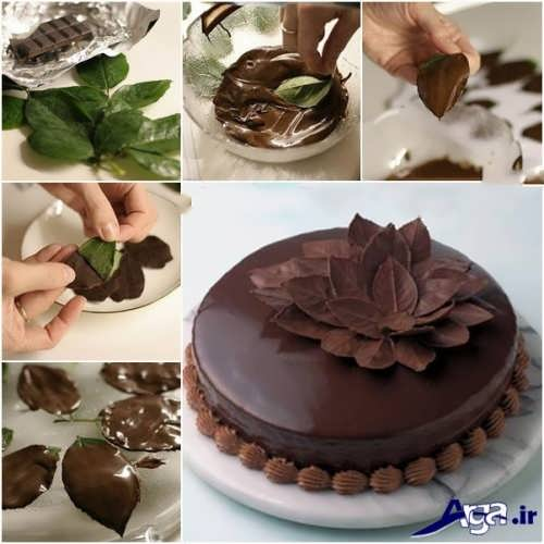 آموزش تزیین کیک شکلاتی