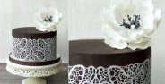 chocolate cake decorating chocolate and lace by Bellaria Cake Design