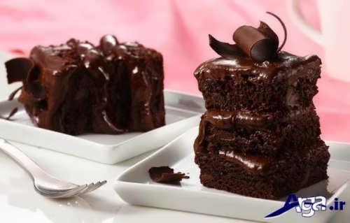 مدل تزیین کیک شکلاتی
