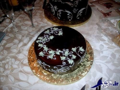 تزیین زیبا کیک شکلاتی