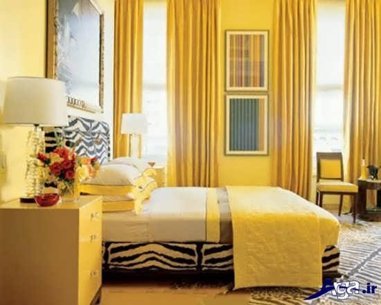 عکس اتاق خواب زرد