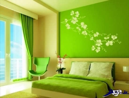 عکس اتاق خواب سبز زیبا