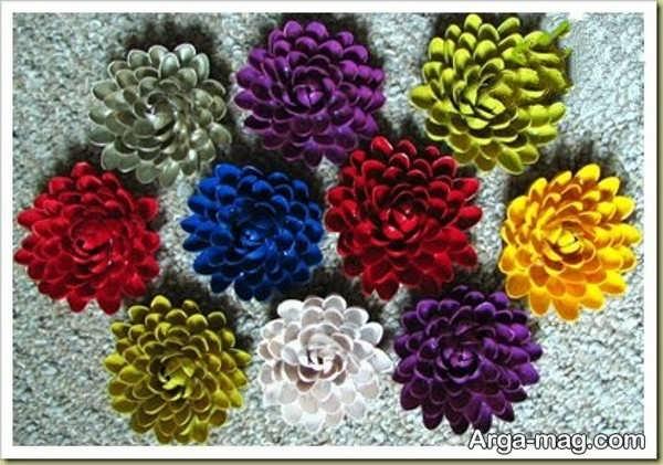 ایده خلاقانه ساخت گل با پوست پسته