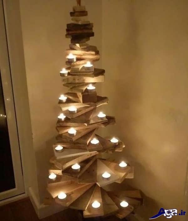 خلاقیت در ساخت جاشمعی چوبی