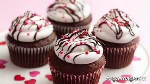 تزیینات قشنگ کاپ کیک شکلاتی