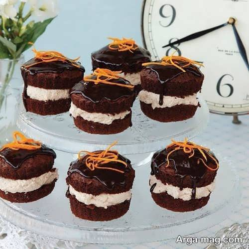 تزیینات مدرن کاپ کیک شکلاتی
