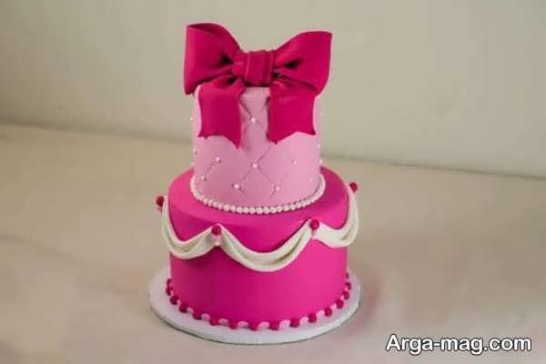 تزیینات کیک دخترانه با خمیر فوندانت