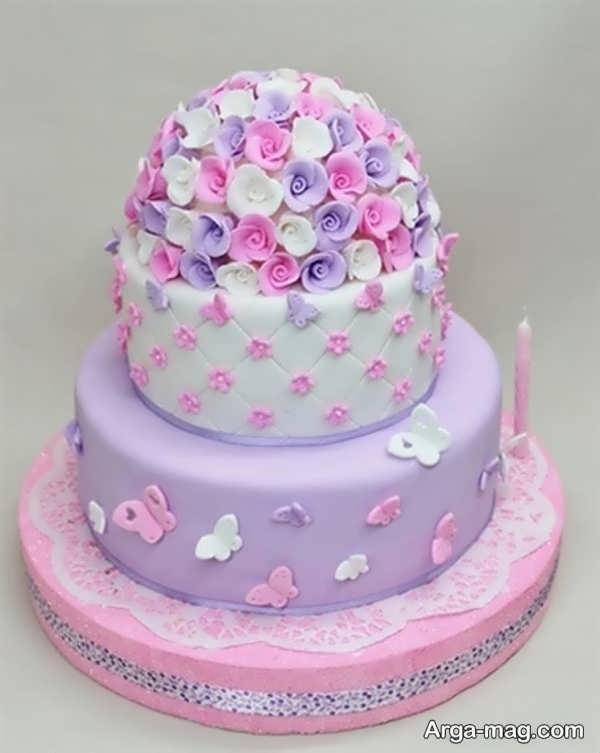 تزیینات کیک تولد با خمیر فوندانت