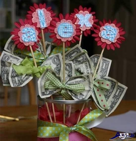 تزیین گلدان تزیینی با پول