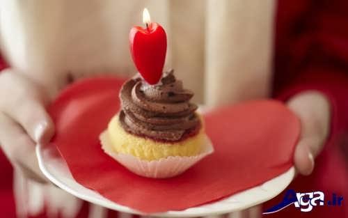 تزیین کاپ کیک با شمع