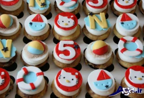 تزیی کاپ های کیک برای کودکان