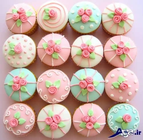کاپ کیک با تزیینات متنوع