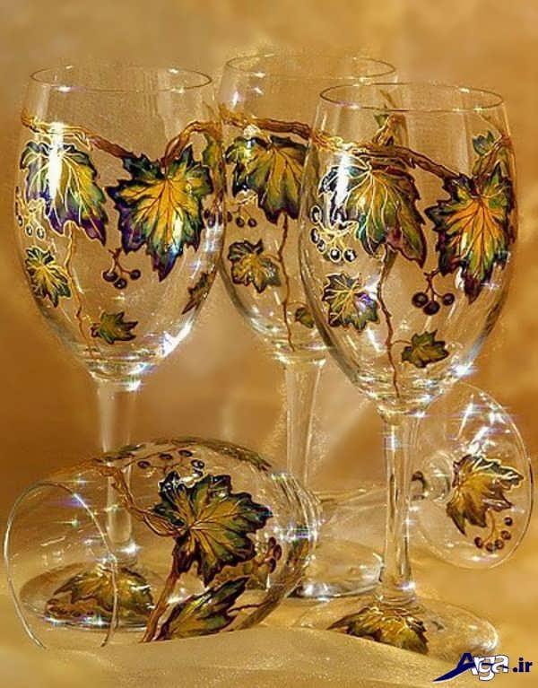 نقاشی روی جام شیشه ای سفره هفت سین