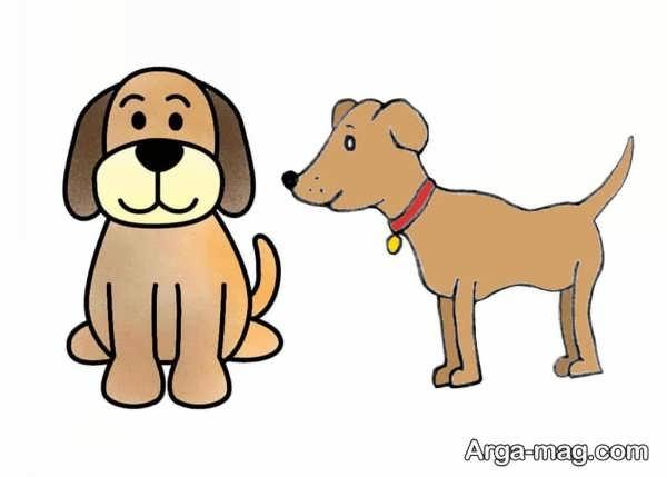 طراحی و رنگ آمیزی سگ