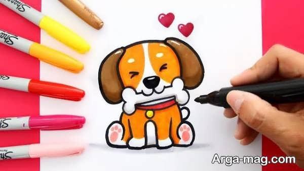 آموزش طراحی سگ کودکانه
