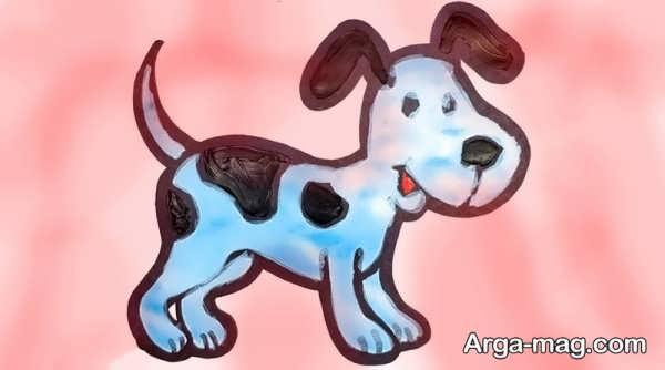 آموزش نقاشی سگ زیبا