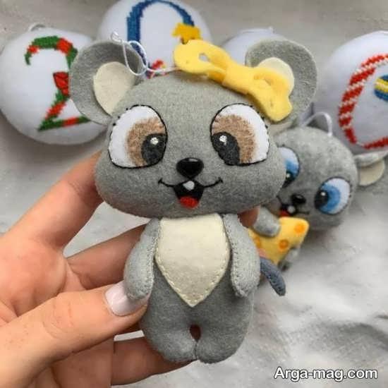 الگوی عروسک نمدی موش