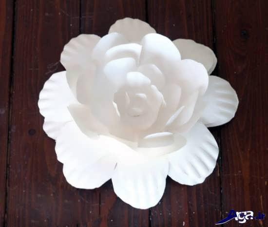 ساخت گل با قاشق یکبار مصرف