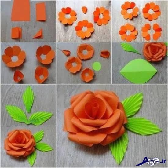 آموزش ساخت گل های کاغذی زیبا