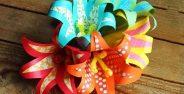 ساخت کاردستی گل با کاغذ رنگی
