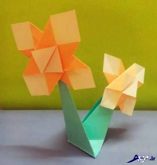 کاردستی گل با کاغذ رنگی