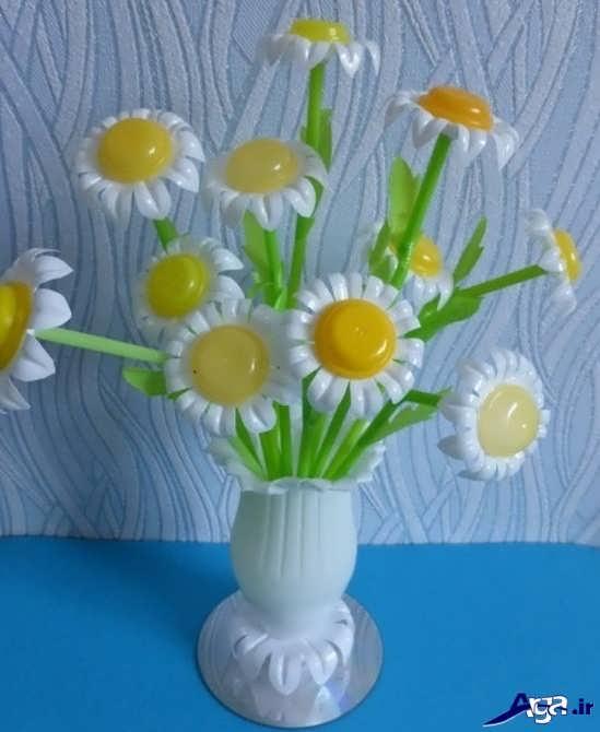 ساخت گل با وسایل دور ریختنی