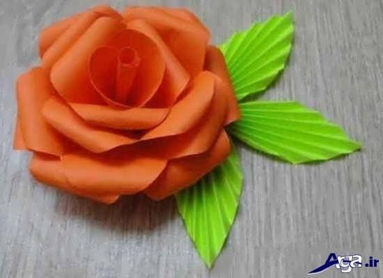 ساخت گل با کاغذ و مقوا برای کودکان