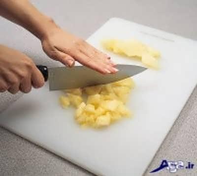 خرد کردن آناناس