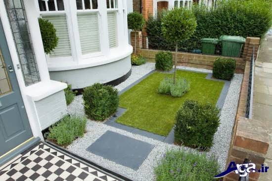 تزیین حیاط و باغچه های بزرگ