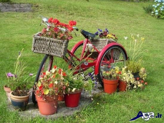 تزیین جدید باغچه با وسایل دور ریختنی