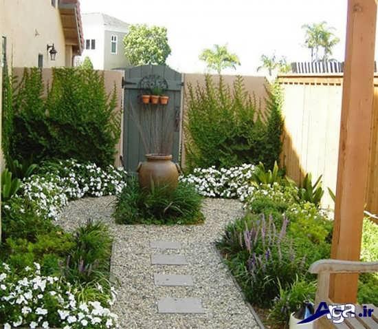 تزیین ساده حیاط و باغچه های منزل