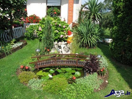 تزیینات زیبا و ساده باغچه حیاط
