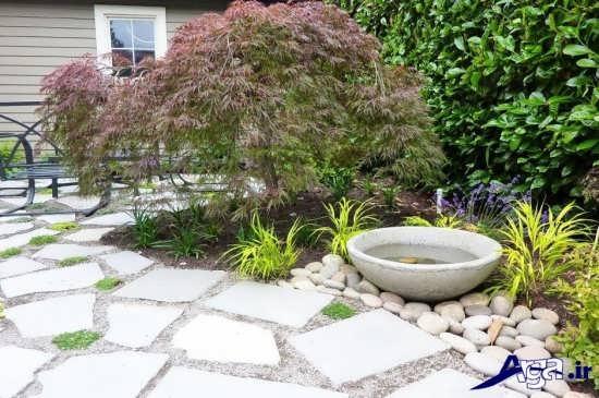 تزیین باغ و باغچه با سنگ