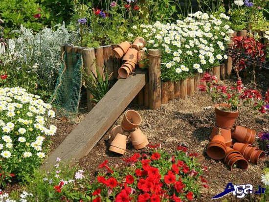 تزیین جدید باغچه منزل