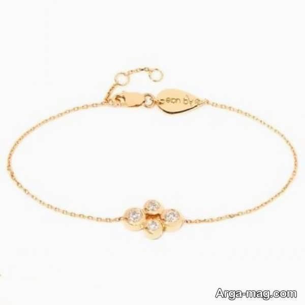 مدلی از دستبند طلای ظریف