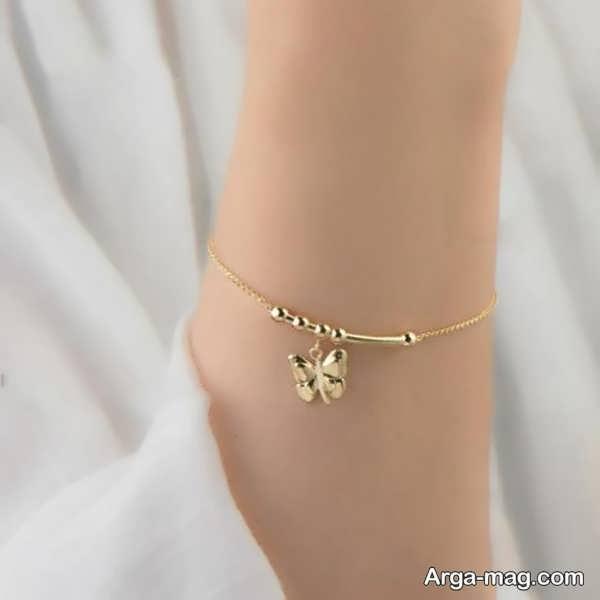 مدلی از دستبند طلای دخترانه