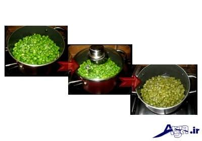 مرحل پخت لوبیا سبز