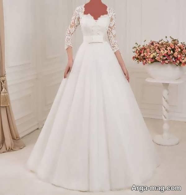مدل لباس عروس گیپوردار جدید